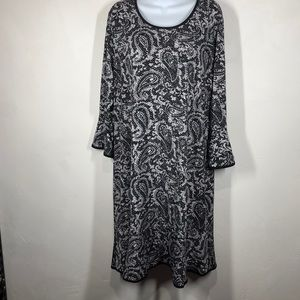 Michael Michael Kors black paisley dress sz 2X